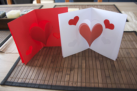 Carte pop up coeur mont de l 39 enclus - Carte pop up facile ...