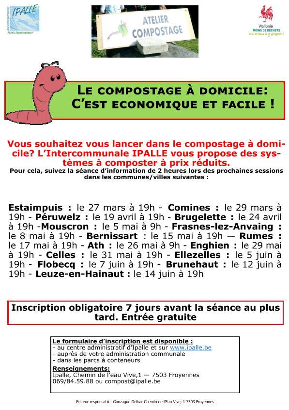 IPALLE compostage affiche dates