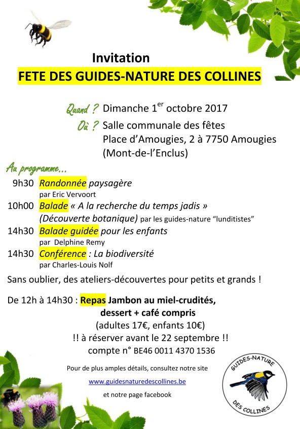 Invitation fête guides nature